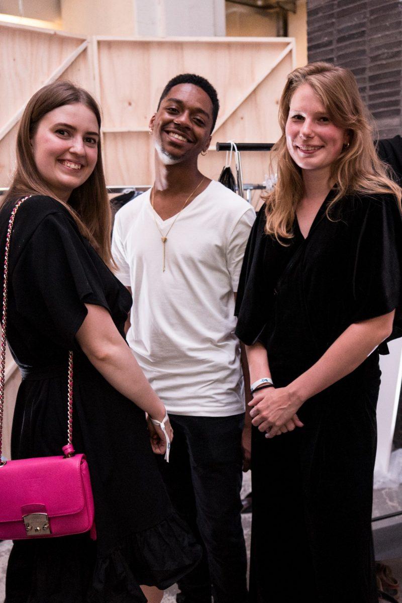 Denim Design Students in the backstage