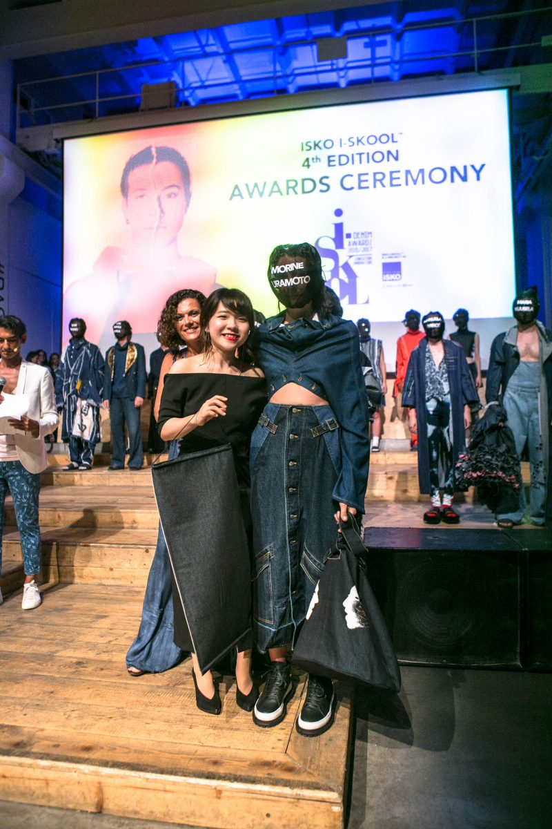 Winner of the Responsible Innovation Award - Morine Uramoto from Bunka Fashion College