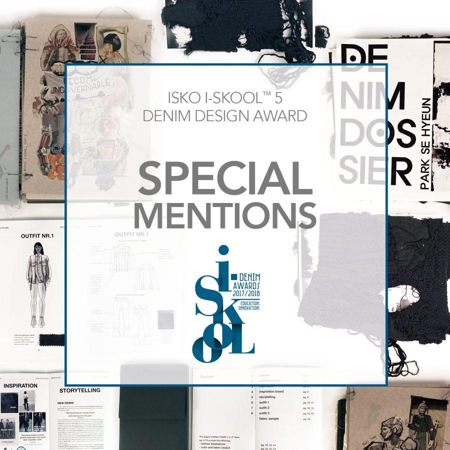 ISKO I-SKOOL™ Special Mentions