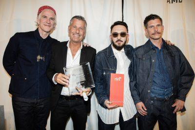Bilge Hakan Gurkaynak - Winner of the Riri Award - with Nantas Montonati