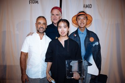 XIAOHUI LYU - Winner of the Best Overall STudent Award - With Francisco Costa