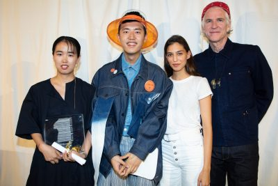 Xiaohui Lyu - Winner of the Best Showpiece - with Marina Testino